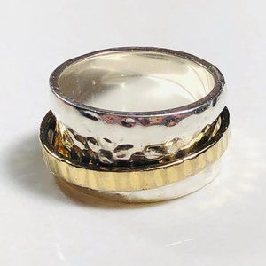 SILPADA Silver & Gold Spinner Ring Size 9 R1476